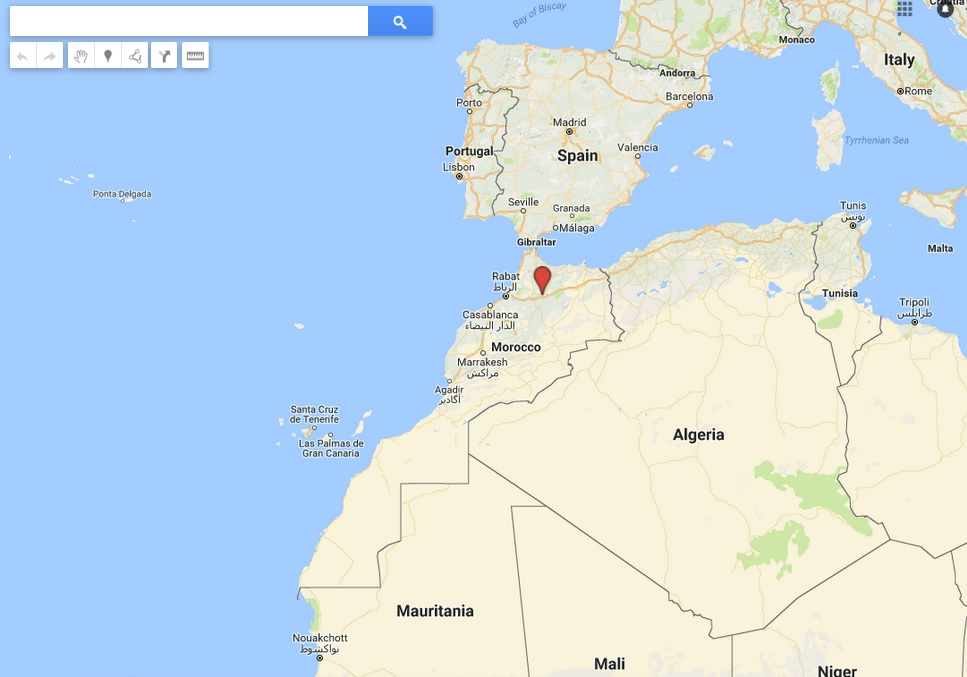 Morocco with its sahara on google map marocrank web agency in morocco maroc sur google map gumiabroncs Images
