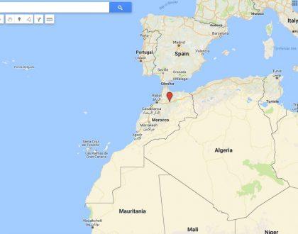 maroc sur google map